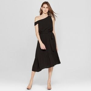Women's Assymetric One Shoulder Midi Dress